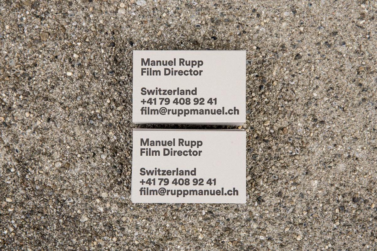 Manuel Rupp Visitenkarten Studio Risch Werbeagentur